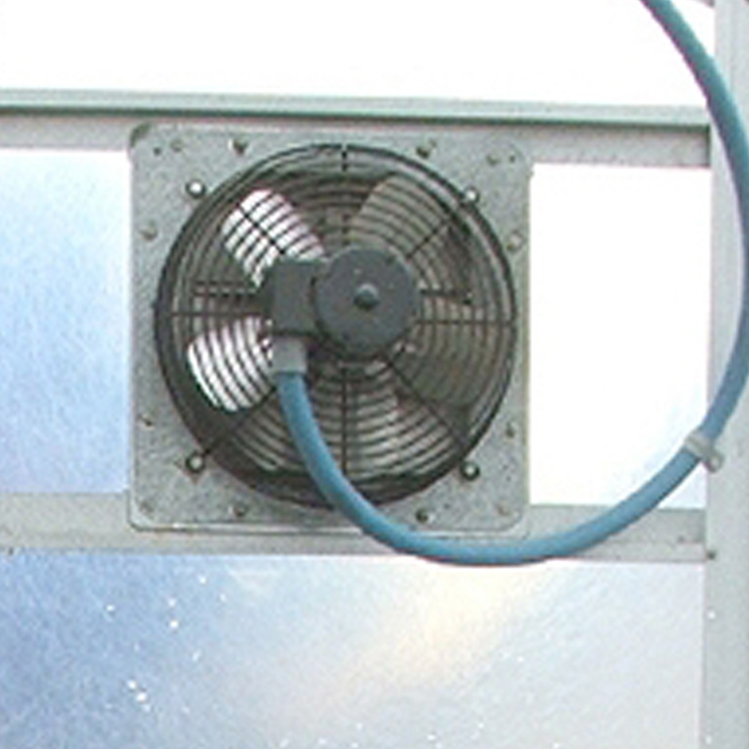Exhaust Fan System : Automatic fan ventilation systems turner greenhouses
